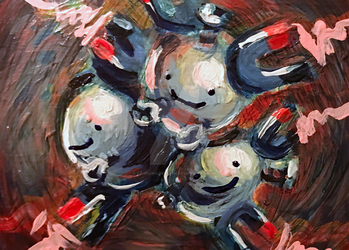 Ditto Magneton ATC (FOR SALE!) by CassowaryRoom