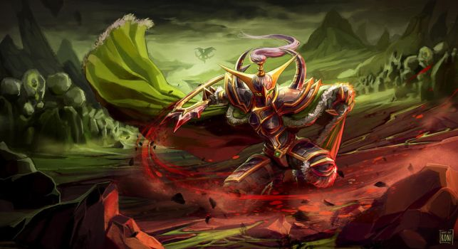 Maiev Shadowsong by Koni-art