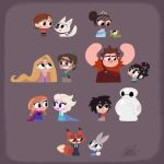 Disney Duets including Big Hero 6, Frozen, Tangled by princekido