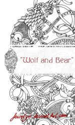 Wolf and Bear Tattoo Design by Feivelyn