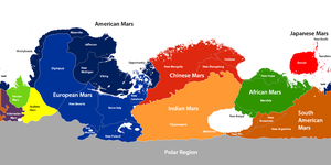 Mars Political Map by YNot1989