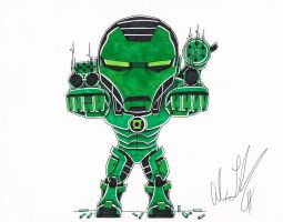 Green Lantern War Machine by toonartist