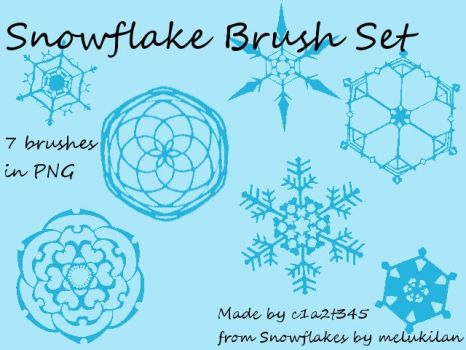 Snowflake Brush Set-PNG by c1a2t345