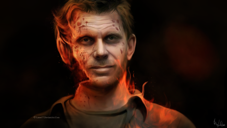 The fires of hell - Painting by Lasse17