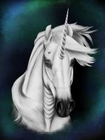 Christmas - Merry Yule 2014 - White Unicorn by Blood-Huntress