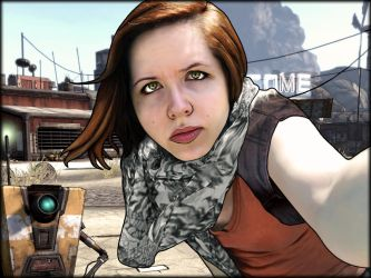 Borderlands Self-Portrait with Claptrap by simdragon90
