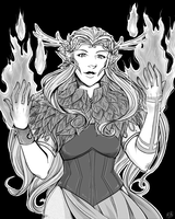 Flame On, Keyleth by TriaElf9