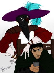 Jarlaxle and Artemis by Hermy-one