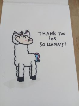 Thank you for 50 llama's! by ColoredButterfly