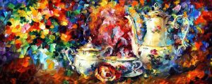 Tea Party by Leonid Afremov by Leonidafremov