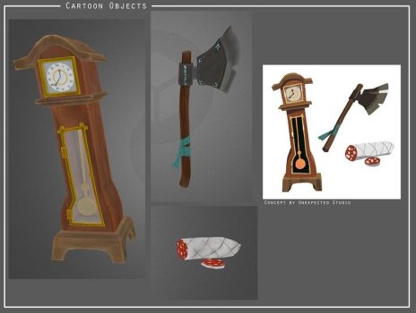 Cartoon objects by Nat-the-witch