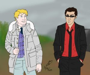 GO_Aziraphale and Crowley by ChouetteEffraie