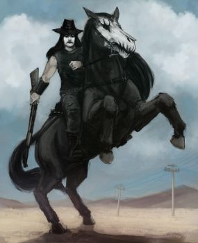 corpse-paint cowboy by kill-stereo
