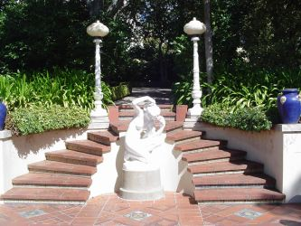 Hearst Castle Steps 2 by StockWolfwood