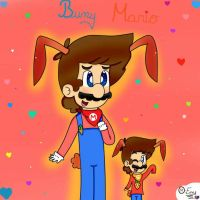 Bunny Mario and Chibi  by ForeverfanMarioBros