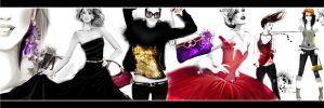 fashion collage bw color by BreeLeman