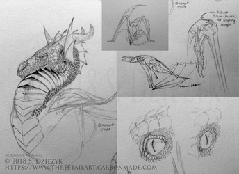 Morghus Sketch Page by LeccathuFurvicael
