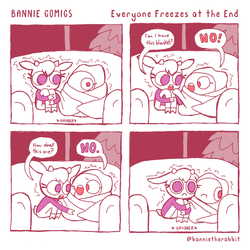 Bannie Comics: Everyone Freezes at the End by GreenMangos
