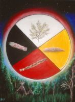 Four Sacred Medicines by Marybriannemckay