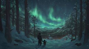 Northern lights by peacestream