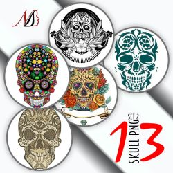 13 Skull PNG Set 2 by noema-13