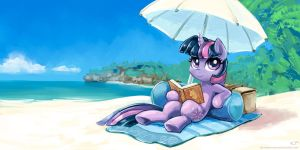 Twilight At The Beach by KP-ShadowSquirrel