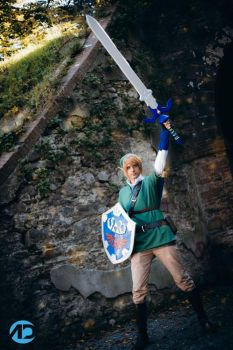 Link Skyward sword Master Sword by IKaggi14