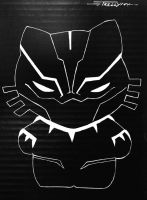Black Panther Kitty by artist Tom Kelly by TomKellyART