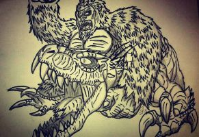 King Kong vs. Indominus Rex  by Erickzilla