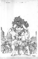 She Hulk zombie pencils by EdMcGuinness