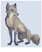 Grey colored wolf by Kipine