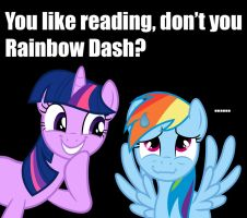 You Like Reading, Don't You Rainbow Dash? by GreenMachine987