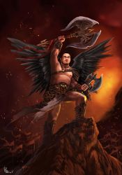 Ethillion the Angel of War by slumberus