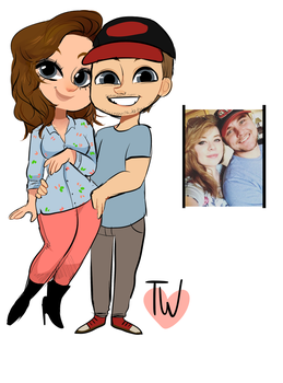Chibi Couple For Torn by temporaryWizard
