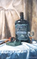 Addictions - Oil Painting by AstridBruning