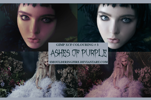 GIMP XCF Colouring 03 / Ashes of Purple by SmoulderingFire
