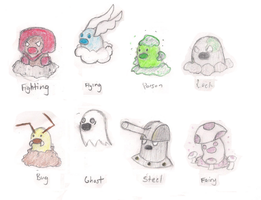 Diglett Type Variations (2)