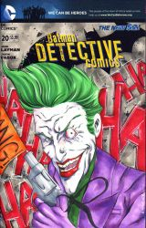 Joker Sketch Cover from DC Comics by wheels9696