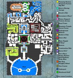 Jak II Haven Map by DrinkTeaOrDie