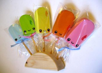 Wooden Ice Lollies by kickass-peanut