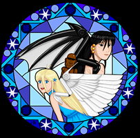 Energeia Akosmia in stained glass style by SailorEnergy