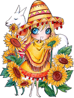 - COMMISSION - Chibi Poncho - by ooneithoo