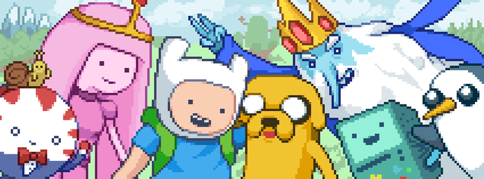 Finn + Jake + Friends by skeddles