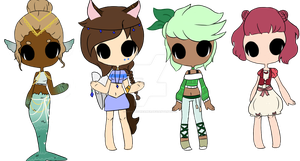 Girl Ocs Base Edit by AriaTheDreamer