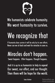 Isaac Asimov on Humanism.. by rationalhub