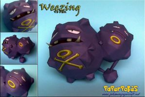 Weezing Papercraft by Olber-Correa