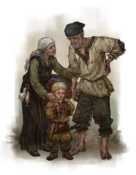 Anglo-Saxon peasant family by quargon