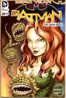 Batman Sketch Cover Poison Ivy by mentaldiversions