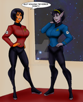 T'Var and Gabriella.. New Uniforms 2257 by StalinDC