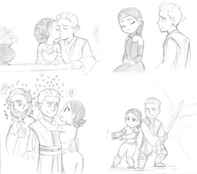 SW Episode 2 - Anakin and Padme by KatyTorres
